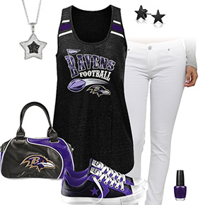 Baltimore Ravens Outfit With Converse