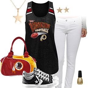Washington Redskins Outfit With Converse