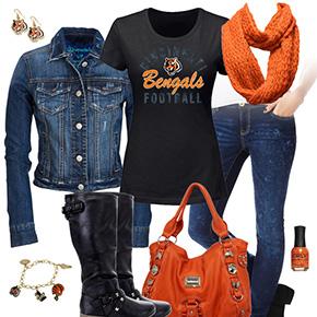Cincinnati Bengals Jean Jacket Outfit