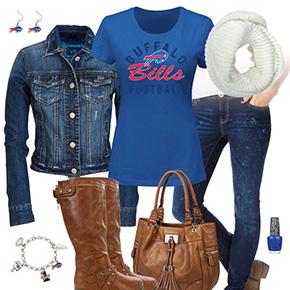 Buffalo Bills Jean Jacket Outfit