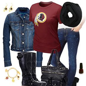 Washington Redskins Jean Jacket Outfit