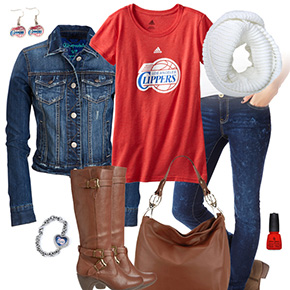Los Angeles Clippers Jean Jacket Outfit