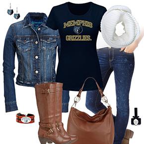 Memphis Grizzlies Jean Jacket Outfit