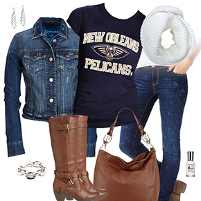 New Orleans Pelicans Jean Jacket Outfit