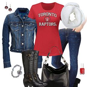 Toronto Raptors Jean Jacket Outfit