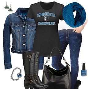Minnesota Timberwolves Jean Jacket Outfit