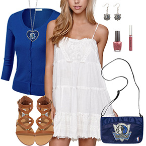 Dallas Mavericks Dress Outfit