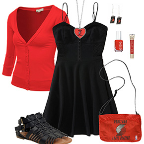 Portland Trail Blazers Dress Outfit