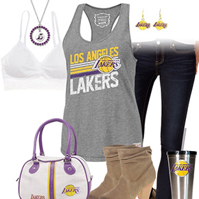 Los Angeles Lakers Tank Top Outfit