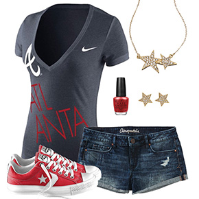 Atlanta Braves Outfit With Converse