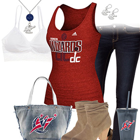 Washington Wizards Red Tank Top Outfit