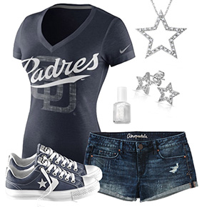 San Diego Padres Outfit With Converse