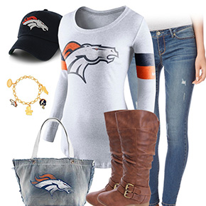 Denver Broncos Inspired Outfit