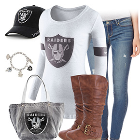 Oakland Raiders Inspired Outfit