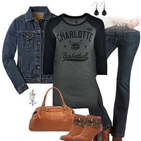 Charlotte Hornets Flare Jeans Outfit