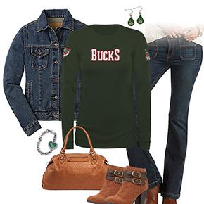 Milwaukee Bucks Flare Jeans Outfit
