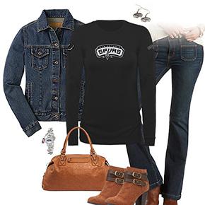 San Antonio Spurs Flare Jeans Outfit