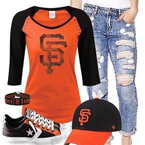 San Francisco Giants Cute Boyfriend Jeans Outfit