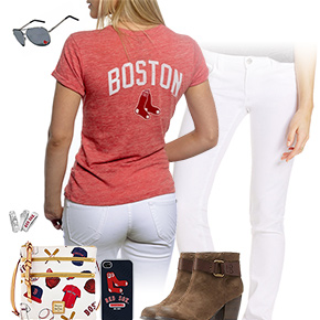 Boston Red Sox Tshirt Outfit