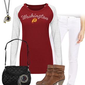 Cute Washington Redskins Kickoff Outfit