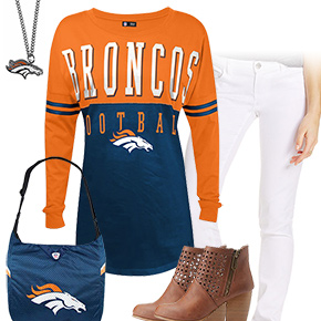 Cute Denver Broncos Kickoff Outfit