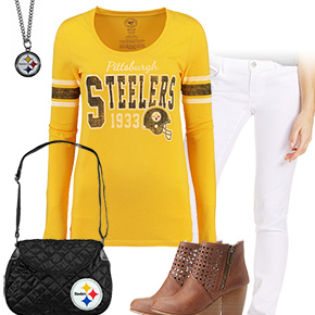 Cute Pittsburgh Steelers Kickoff Outfit