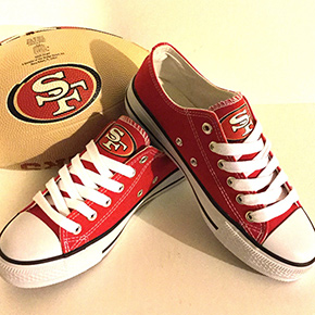 San Francisco 49ers Converse Sneakers