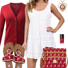 Alabama Crimson Tide Summer Dress Outfit