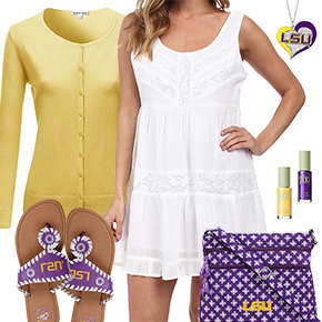 LSU Tigers Summer Dress Outfit